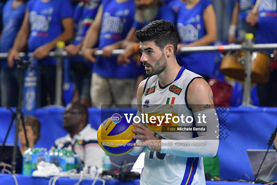Filippo LANZA, before serving a ball