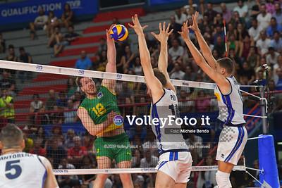 ITALIA vs AUSTRALIA, 2019 FIVB Intercontinental Olympic Qualification Tournament - Men's Pool C IT, 10 agosto 2019. Foto: Michele Benda per VolleyFoto.it [riferimento file: 2019-08-10/ND5_6447]