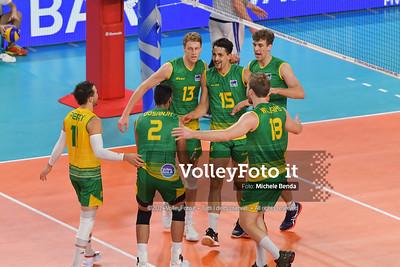 Australia Team, celebrates a point
