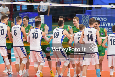 ITALIA vs AUSTRALIA, 2019 FIVB Intercontinental Olympic Qualification Tournament - Men's Pool C IT, 10 agosto 2019. Foto: Michele Benda per VolleyFoto.it [riferimento file: 2019-08-10/ND5_6017]