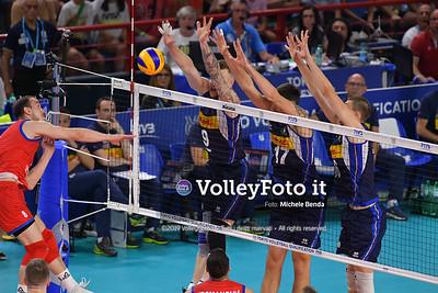 ITALIA vs SERBIA, 2019 FIVB Intercontinental Olympic Qualification Tournament - Men's Pool C IT, 11 agosto 2019. Foto: Michele Benda per VolleyFoto.it [riferimento file: 2019-08-11/ND5_6921]