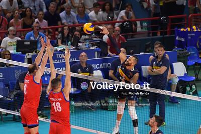 ITALIA vs SERBIA, 2019 FIVB Intercontinental Olympic Qualification Tournament - Men's Pool C IT, 11 agosto 2019. Foto: Michele Benda per VolleyFoto.it [riferimento file: 2019-08-11/ND5_6998]