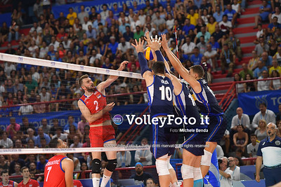 ITALIA vs SERBIA, 2019 FIVB Intercontinental Olympic Qualification Tournament - Men's Pool C IT, 11 agosto 2019. Foto: Michele Benda per VolleyFoto.it [riferimento file: 2019-08-11/ND5_7435]