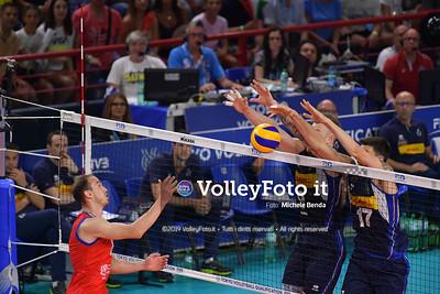 ITALIA vs SERBIA, 2019 FIVB Intercontinental Olympic Qualification Tournament - Men's Pool C IT, 11 agosto 2019. Foto: Michele Benda per VolleyFoto.it [riferimento file: 2019-08-11/ND5_6904]