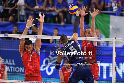 ITALIA vs SERBIA, 2019 FIVB Intercontinental Olympic Qualification Tournament - Men's Pool C IT, 11 agosto 2019. Foto: Michele Benda per VolleyFoto.it [riferimento file: 2019-08-11/ND5_7145]