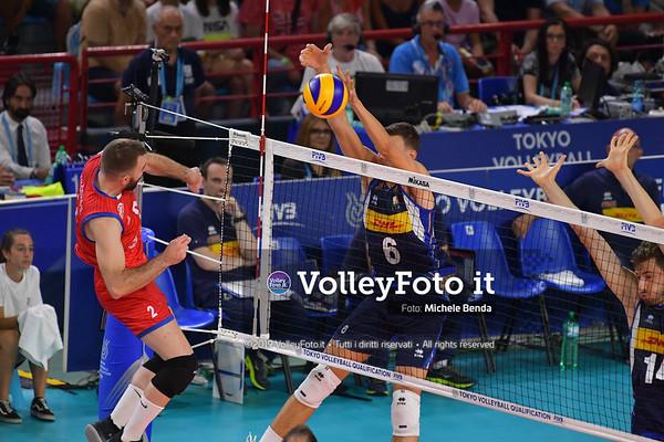ITALIA vs SERBIA, 2019 FIVB Intercontinental Olympic Qualification Tournament - Men's Pool C IT, 11 agosto 2019. Foto: Michele Benda per VolleyFoto.it [riferimento file: 2019-08-11/ND5_6966]