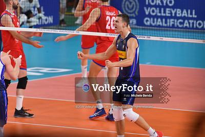 ITALIA vs SERBIA, 2019 FIVB Intercontinental Olympic Qualification Tournament - Men's Pool C IT, 11 agosto 2019. Foto: Michele Benda per VolleyFoto.it [riferimento file: 2019-08-11/ND5_7134]