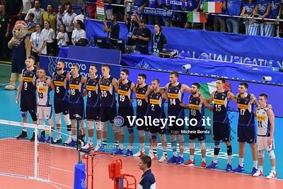 ITALIA vs SERBIA, 2019 FIVB Intercontinental Olympic Qualification Tournament - Men's Pool C IT, 11 agosto 2019. Foto: Michele Benda per VolleyFoto.it [riferimento file: 2019-08-11/ND5_6834]