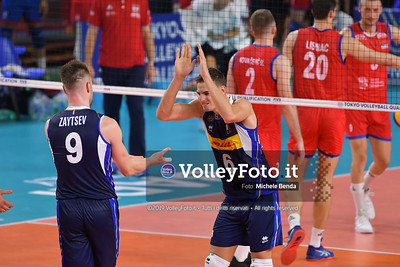 ITALIA vs SERBIA, 2019 FIVB Intercontinental Olympic Qualification Tournament - Men's Pool C IT, 11 agosto 2019. Foto: Michele Benda per VolleyFoto.it [riferimento file: 2019-08-11/ND5_7135]