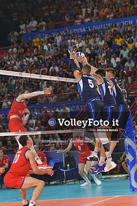 ITALIA vs SERBIA, 2019 FIVB Intercontinental Olympic Qualification Tournament - Men's Pool C IT, 11 agosto 2019. Foto: Michele Benda per VolleyFoto.it [riferimento file: 2019-08-11/ND5_7264]