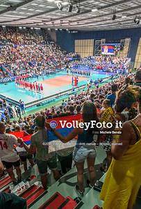 ITALIA vs SERBIA, 2019 FIVB Intercontinental Olympic Qualification Tournament - Men's Pool C IT, 11 agosto 2019. Foto: Michele Benda per VolleyFoto.it [riferimento file: 2019-08-11/NZ6_3004-Pano]