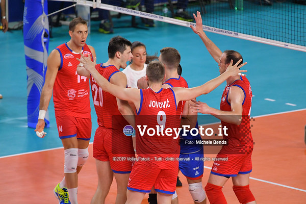 ITALIA vs SERBIA, 2019 FIVB Intercontinental Olympic Qualification Tournament - Men's Pool C IT, 11 agosto 2019. Foto: Michele Benda per VolleyFoto.it [riferimento file: 2019-08-11/ND5_6985]
