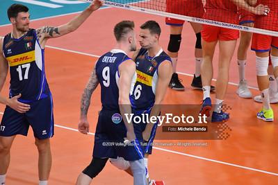 ITALIA vs SERBIA, 2019 FIVB Intercontinental Olympic Qualification Tournament - Men's Pool C IT, 11 agosto 2019. Foto: Michele Benda per VolleyFoto.it [riferimento file: 2019-08-11/ND5_7068]