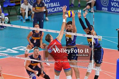 ITALIA vs SERBIA, 2019 FIVB Intercontinental Olympic Qualification Tournament - Men's Pool C IT, 11 agosto 2019. Foto: Michele Benda per VolleyFoto.it [riferimento file: 2019-08-11/ND5_7051]