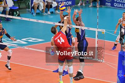 ITALIA vs SERBIA, 2019 FIVB Intercontinental Olympic Qualification Tournament - Men's Pool C IT, 11 agosto 2019. Foto: Michele Benda per VolleyFoto.it [riferimento file: 2019-08-11/ND5_7005]