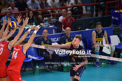 ITALIA vs SERBIA, 2019 FIVB Intercontinental Olympic Qualification Tournament - Men's Pool C IT, 11 agosto 2019. Foto: Michele Benda per VolleyFoto.it [riferimento file: 2019-08-11/ND5_6991]