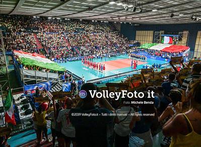 ITALIA vs SERBIA, 2019 FIVB Intercontinental Olympic Qualification Tournament - Men's Pool C IT, 11 agosto 2019. Foto: Michele Benda per VolleyFoto.it [riferimento file: 2019-08-11/NZ6_3010-Pano]