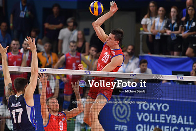 ITALIA vs SERBIA, 2019 FIVB Intercontinental Olympic Qualification Tournament - Men's Pool C IT, 11 agosto 2019. Foto: Michele Benda per VolleyFoto.it [riferimento file: 2019-08-11/ND5_7142]