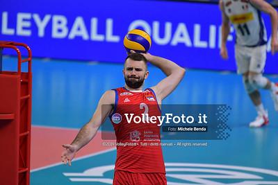 ITALIA vs SERBIA, 2019 FIVB Intercontinental Olympic Qualification Tournament - Men's Pool C IT, 11 agosto 2019. Foto: Michele Benda per VolleyFoto.it [riferimento file: 2019-08-11/ND5_6793]