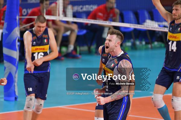 ITALIA vs SERBIA, 2019 FIVB Intercontinental Olympic Qualification Tournament - Men's Pool C IT, 11 agosto 2019. Foto: Michele Benda per VolleyFoto.it [riferimento file: 2019-08-11/ND5_7156]