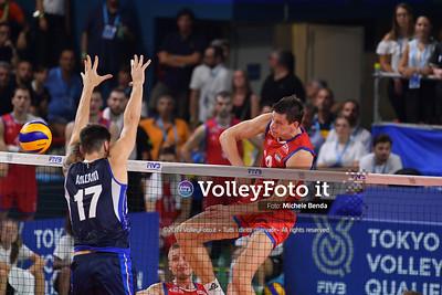 ITALIA vs SERBIA, 2019 FIVB Intercontinental Olympic Qualification Tournament - Men's Pool C IT, 11 agosto 2019. Foto: Michele Benda per VolleyFoto.it [riferimento file: 2019-08-11/ND5_7144]