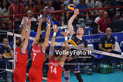 ITALIA vs SERBIA, 2019 FIVB Intercontinental Olympic Qualification Tournament - Men's Pool C IT, 11 agosto 2019. Foto: Michele Benda per VolleyFoto.it [riferimento file: 2019-08-11/ND5_6916]