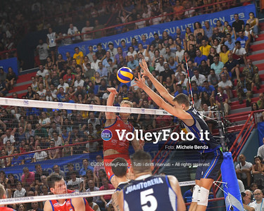 ITALIA vs SERBIA, 2019 FIVB Intercontinental Olympic Qualification Tournament - Men's Pool C IT, 11 agosto 2019. Foto: Michele Benda per VolleyFoto.it [riferimento file: 2019-08-11/ND5_7339]