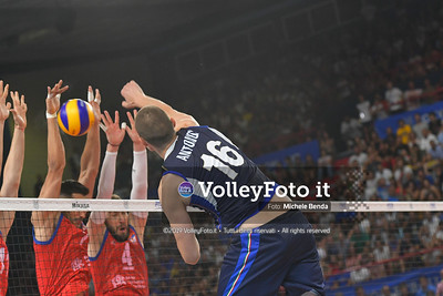 ITALIA vs SERBIA, 2019 FIVB Intercontinental Olympic Qualification Tournament - Men's Pool C IT, 11 agosto 2019. Foto: Michele Benda per VolleyFoto.it [riferimento file: 2019-08-11/ND5_7395]