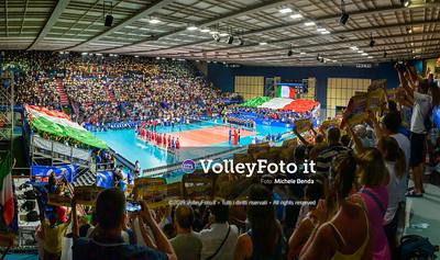 ITALIA vs SERBIA, 2019 FIVB Intercontinental Olympic Qualification Tournament - Men's Pool C IT, 11 agosto 2019. Foto: Michele Benda per VolleyFoto.it [riferimento file: 2019-08-11/NZ6_3013-Pano]