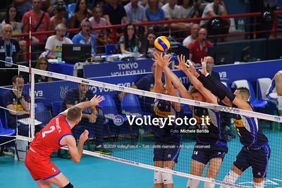 ITALIA vs SERBIA, 2019 FIVB Intercontinental Olympic Qualification Tournament - Men's Pool C IT, 11 agosto 2019. Foto: Michele Benda per VolleyFoto.it [riferimento file: 2019-08-11/ND5_7030]
