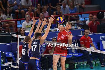 ITALIA vs SERBIA, 2019 FIVB Intercontinental Olympic Qualification Tournament - Men's Pool C IT, 11 agosto 2019. Foto: Michele Benda per VolleyFoto.it [riferimento file: 2019-08-11/ND5_7086]