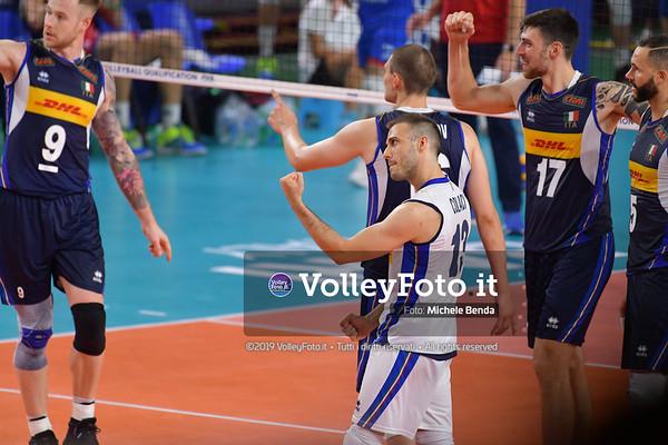 ITALIA vs SERBIA, 2019 FIVB Intercontinental Olympic Qualification Tournament - Men's Pool C IT, 11 agosto 2019. Foto: Michele Benda per VolleyFoto.it [riferimento file: 2019-08-11/ND5_7150]