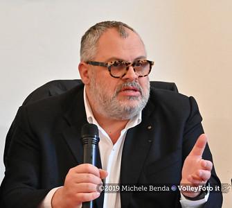 Michele Fioroni durante Conferenza Stampa di presentazione della Pool 13 - VNL - Donne , 9 aprile 2019 - Foto: Michele Benda per VolleyFoto.it [Riferimento file: 2019-04-09/NZ6_0872-2]