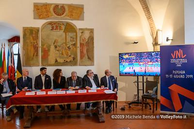 Conferenza Stampa di presentazione della Pool 13 - VNL - Donne , 9 aprile 2019 - Foto: Michele Benda per VolleyFoto.it [Riferimento file: 2019-04-09/NZ6_0859-2]