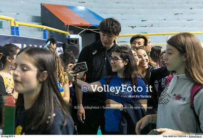 durante presso , 24 maggio 2019. Foto di: MARI.KA TORCIVIA per VolleyFoto.it [riferimento file: 2019-05-25/_I9A1264]