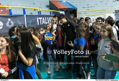 durante presso , 24 maggio 2019. Foto di: MARI.KA TORCIVIA per VolleyFoto.it [riferimento file: 2019-05-25/_I9A1262]