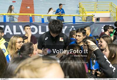 durante presso , 24 maggio 2019. Foto di: MARI.KA TORCIVIA per VolleyFoto.it [riferimento file: 2019-05-25/_I9A1276]
