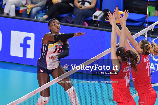 SERBIA - REP. DOMINICANA / VNL Volleyball Nations League 2019 Women's - Pool 5, Week 2 IT, 29 maggio 2019 - Foto: Michele Benda per VolleyFoto.it [Riferimento file: 2019-05-29/ND5_8855]