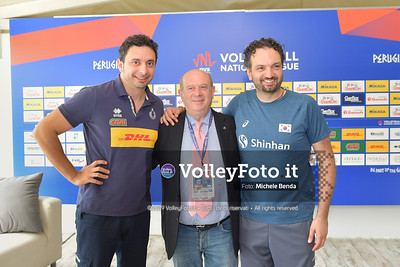 Giuseppe LOMURNO e MAZZANTI Davide - VNL / Volleyball Nations League 2019 Women's - Pool 13, Week 4. IT, 10 giugno 2019 - Foto: Michele Benda per VolleyFoto.it [Riferimento file: 2019-06-10/ND5_3596]