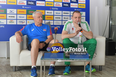 Ivan PETKOV e Vadim PANKOV durante VNL / Volleyball Nations League 2019 Women's - Pool 13, Week 4. IT, 10 giugno 2019 - Foto: Michele Benda per VolleyFoto.it [Riferimento file: 2019-06-10/ND5_3573]