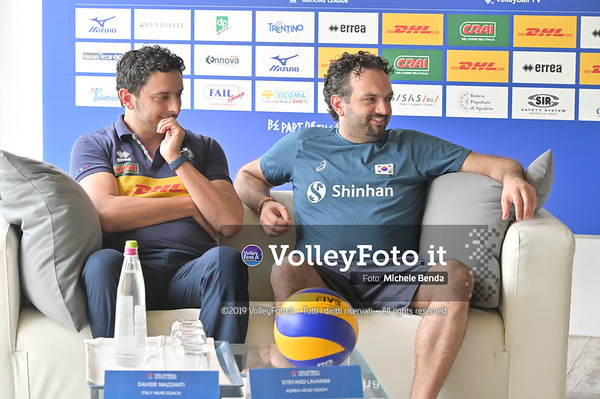 MAZZANTI Davide e Stefano LAVARINI - VNL / Volleyball Nations League 2019 Women's - Pool 13, Week 4. IT, 10 giugno 2019 - Foto: Michele Benda per VolleyFoto.it [Riferimento file: 2019-06-10/NZ6_8828]