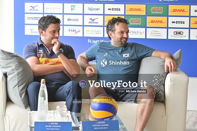 MAZZANTI Davide e Stefano LAVARINI - VNL / Volleyball Nations League 2019 Women's - Pool 13, Week 4. IT, 10 giugno 2019 - Foto: Michele Benda per VolleyFoto.it [Riferimento file: 2019-06-10/NZ6_8828]