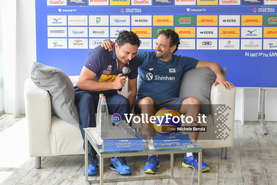 MAZZANTI Davide e Stefano LAVARINI - VNL / Volleyball Nations League 2019 Women's - Pool 13, Week 4. IT, 10 giugno 2019 - Foto: Michele Benda per VolleyFoto.it [Riferimento file: 2019-06-10/ND5_3580]
