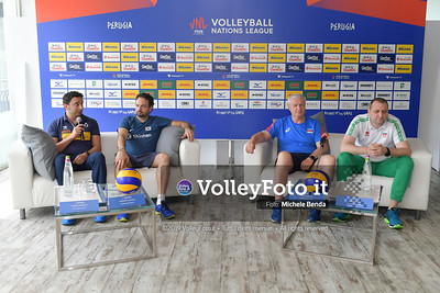 Ivan PETKOV, MAZZANTI Davide, e Vadim PANKOV - VNL / Volleyball Nations League 2019 Women's - Pool 13, Week 4. IT, 10 giugno 2019 - Foto: Michele Benda per VolleyFoto.it [Riferimento file: 2019-06-10/ND5_3579]