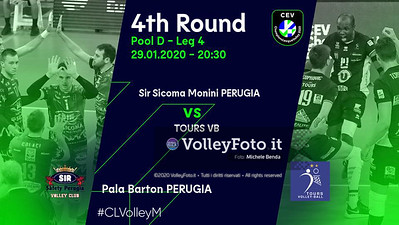 Sir Sicoma Monini PERUGIA vs TOURS VB, 4th round, Pool D - Leg 4, CEV Volleyball Champions League 2020 presso PalaBarton Perugia IT, 29 gennaio 2020. Foto: Michele Benda [riferimento file: 2020-01-29/CEV-Cover-L4]