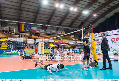 Sir Safety Sicoma PERUGIA - SWD Powervolleys Düren 4th Final - Away match.  2016 CEV Volleyball Cup - Men.  PalaEvangelisti Perugia IT, 27.01.2016 FOTO: Michele Benda © 2016 Volleyfoto.it, all rights reserved [id:20160127._MBK5309]