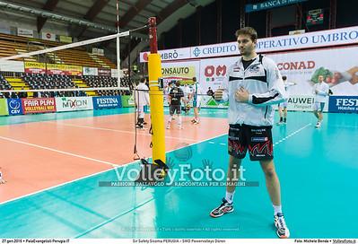 Sir Safety Sicoma PERUGIA - SWD Powervolleys Düren 4th Final - Away match.  2016 CEV Volleyball Cup - Men.  PalaEvangelisti Perugia IT, 27.01.2016 FOTO: Michele Benda © 2016 Volleyfoto.it, all rights reserved [id:20160127._MBK5304]
