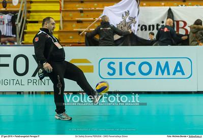 Sir Safety Sicoma PERUGIA - SWD Powervolleys Düren 4th Final - Away match.  2016 CEV Volleyball Cup - Men.  PalaEvangelisti Perugia IT, 27.01.2016 FOTO: Michele Benda © 2016 Volleyfoto.it, all rights reserved [id:20160127._MBK5298]