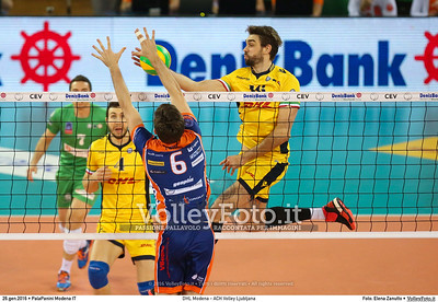 DHL Modena - ACH Volley Ljubljana 6th Leg - Pool F - 2016 CEV DenizBank Volleyball Champions League - Men,  PalaPanini Modena IT, 26.01.2016 FOTO: Elena Zanutto © 2016 Volleyfoto.it, all rights reserved [id:20160126.4B2A0036]