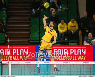 DHL Modena - ACH Volley Ljubljana 6th Leg - Pool F - 2016 CEV DenizBank Volleyball Champions League - Men,  PalaPanini Modena IT, 26.01.2016 FOTO: Elena Zanutto © 2016 Volleyfoto.it, all rights reserved [id:20160126.4B2A0011]